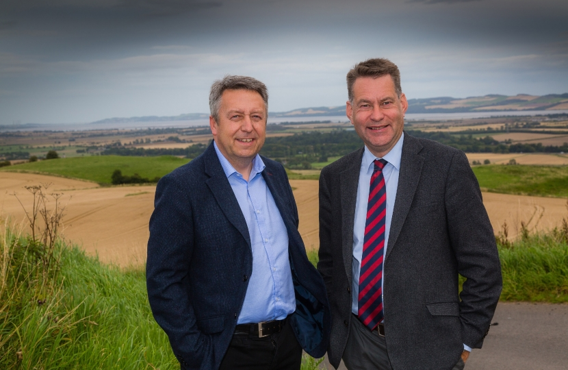 Cllr Angus Forbes with Murdo Fraser MSP