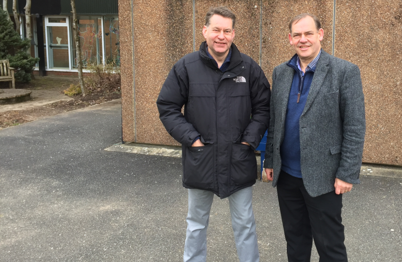 Murdo Fraser MSP with Cllr John Duff