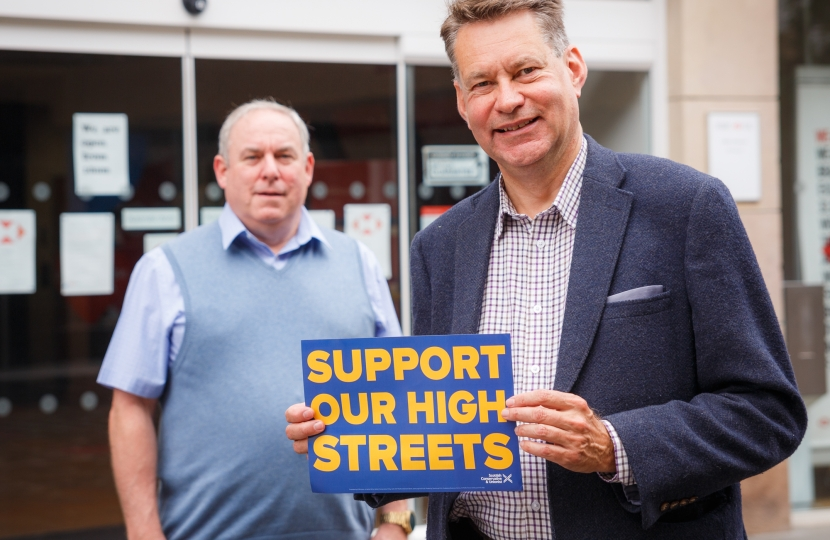 Our MSPs are actively involved in campaigning on local issues such as encouraging support for our High Street.