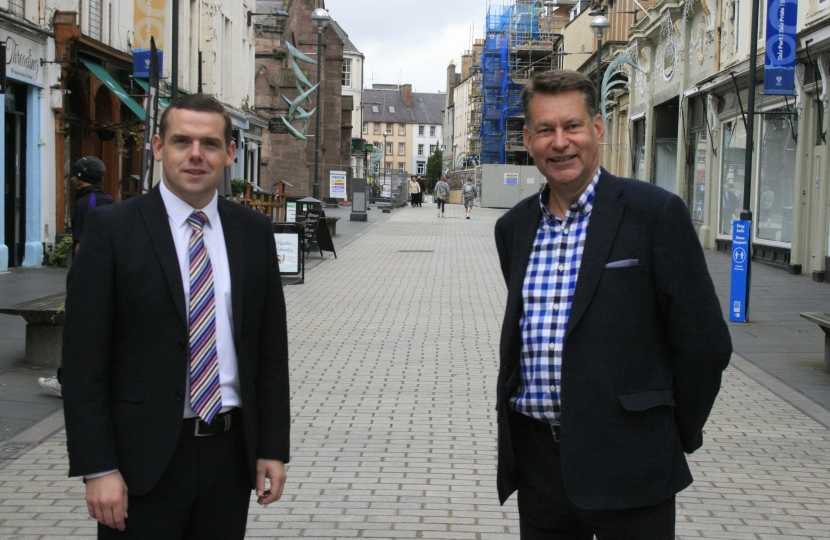 Douglas Ross MP with Murdo Fraser MSP in Perth