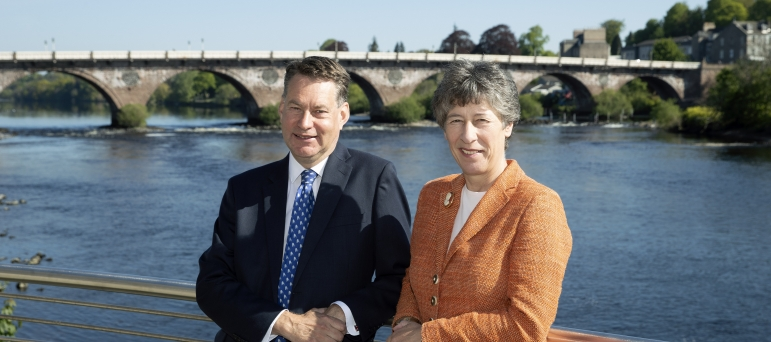 Murdo Fraser MSP and Liz Smith MSP working hard for Perth and Kinross.